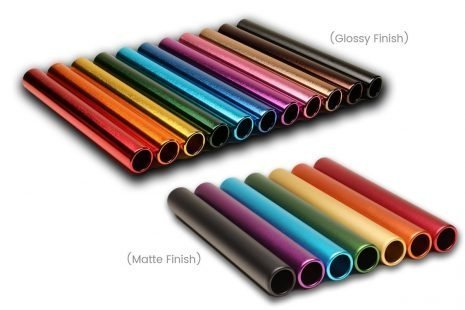 Baton Base Colors - Glossy Finish and Matte Finish (RelayBatons.com)
